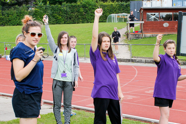 ARK Kings Academy students help with the running of Sports Day 2015