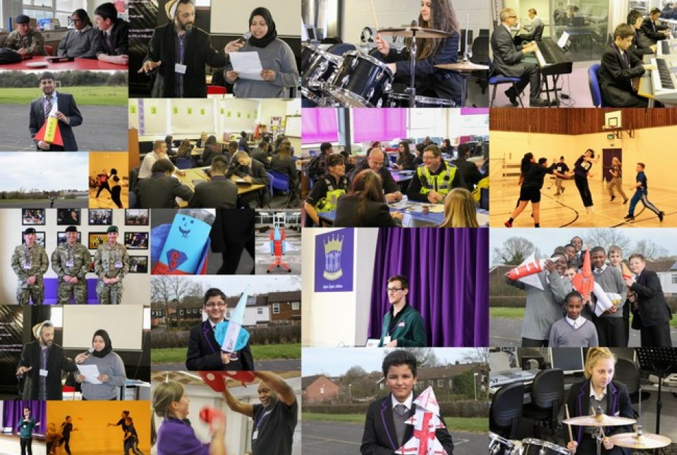 Collage of enrichment day activities at ARK Kings Academy
