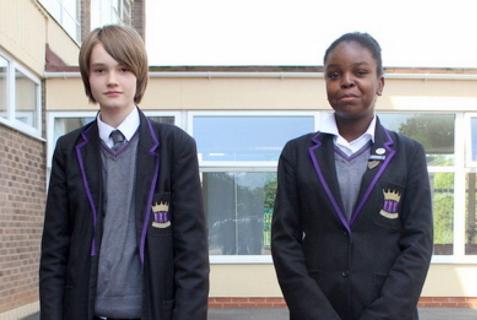 ARK Kings Academy students modelling our school uniform expectations