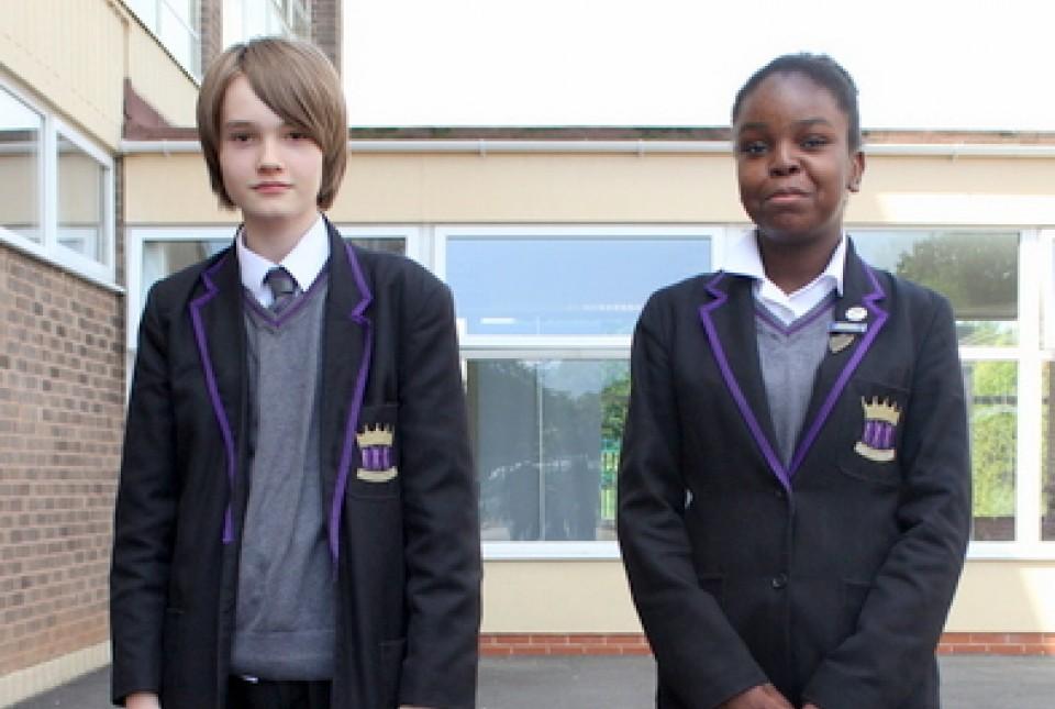 ARK Kings Academy students modelling school uniform standards