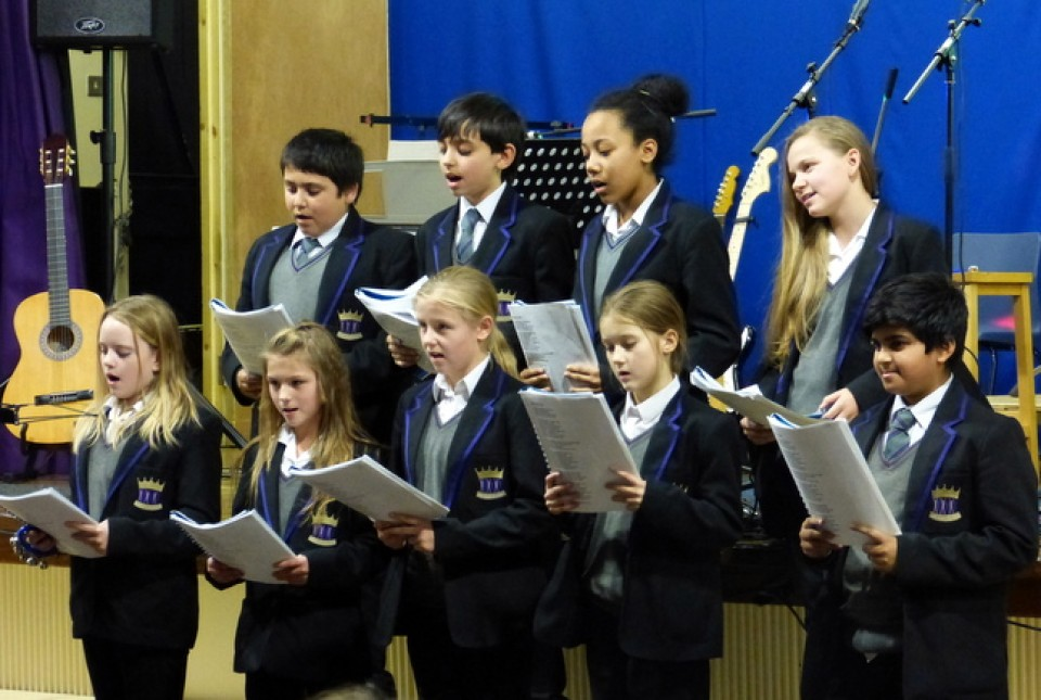 ARK Kings Academy students singing at the 2014 Christmas concert