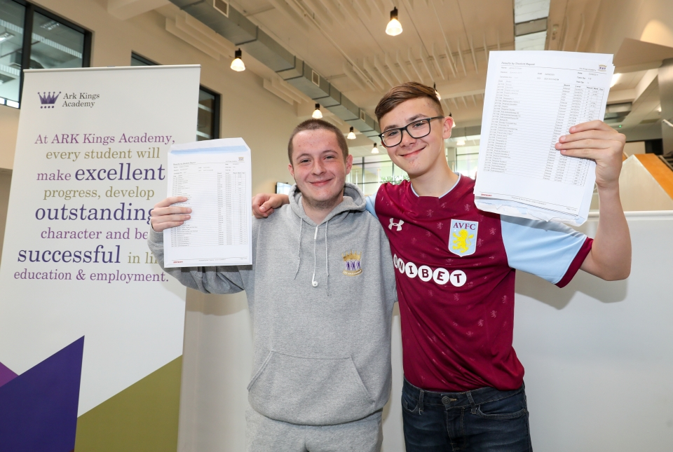 GCSE results Ark Kings students