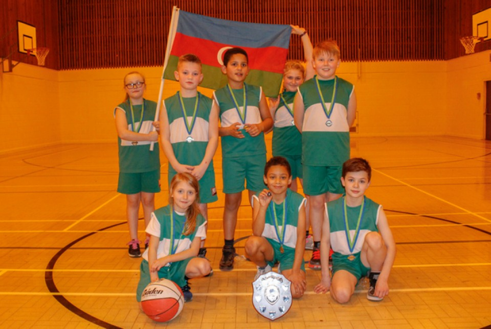 Hollywood Primary School basketball team winners of the Birmingham School Games basketball competition at ARK Kings Academy fo