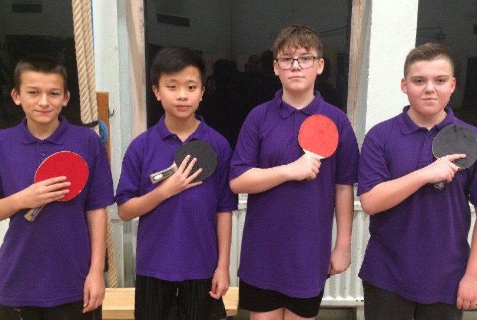KS3 Table Tennis Champion Team
