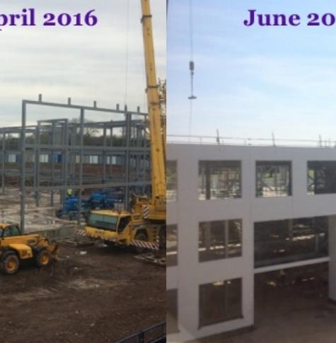 New school building progress