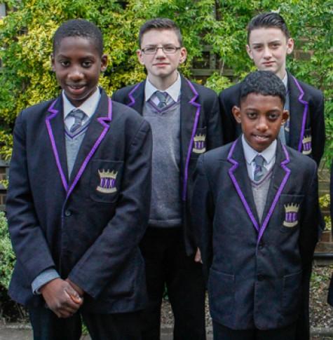 Members of ARK Kings Academy's Year 7 boys athletics team