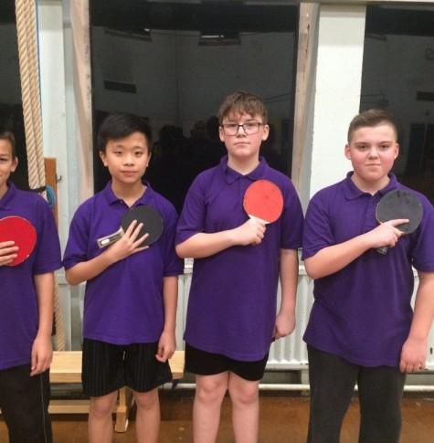 KS3 Table Tennis Champion Team