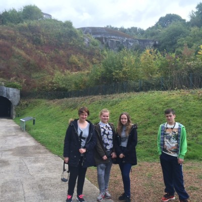 Students visit historic sites linked to WW2 while in Boulogne
