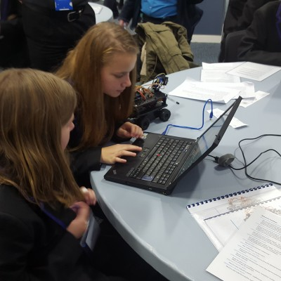 Ark Kings girls refining and improving their coding during the IT Girls Allowed challenges
